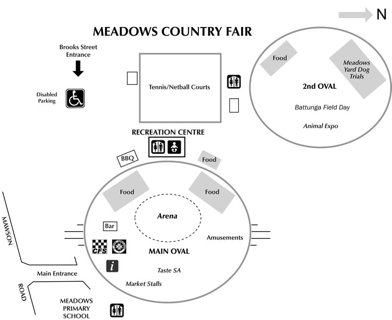 Meadows Fair Map 2009